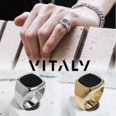 VITALY バイタリー 指輪 リング vaurus オニキス シンプル メンズ レディース ユニ...