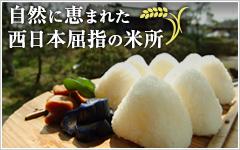 自然に恵まれた西日本屈指の米所