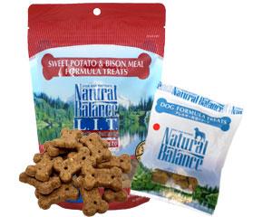 [ナチュラルバランス/Natural Balance]スウィートポテト&バイソン トリーツ(アレルギー対応クッキー)
