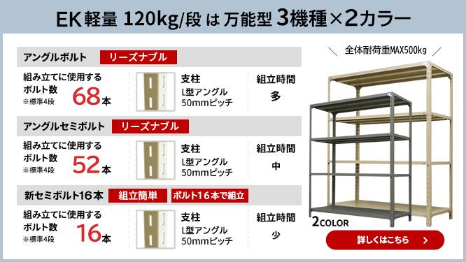 軽量100kg/段 スチールラック