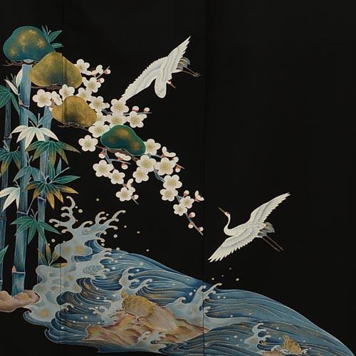 延命長寿の象徴とされる鶴と亀はセットで使われる事が多い