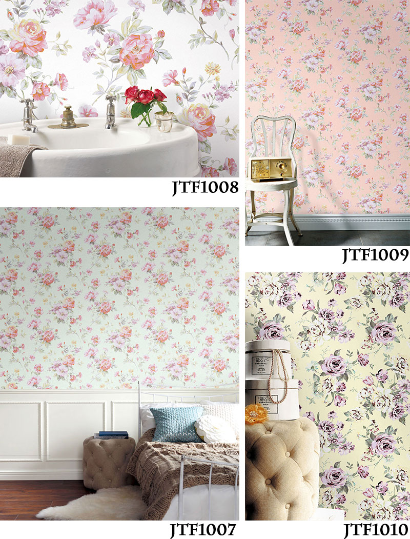Wallpaper Peel Off Wallpaper Wovenfabric Digital Print Wallpaper Cut  Selling Antique Romantic Lovely Girly Retro Floral Roses Pastel Stick And  Peeloff