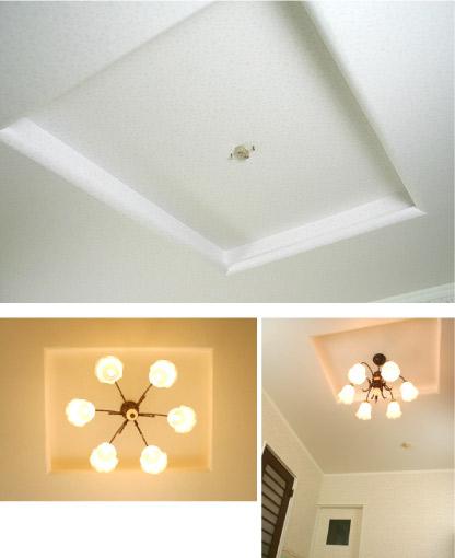 天井の壁紙(クロス)リフォーム(張り替え)完成写真