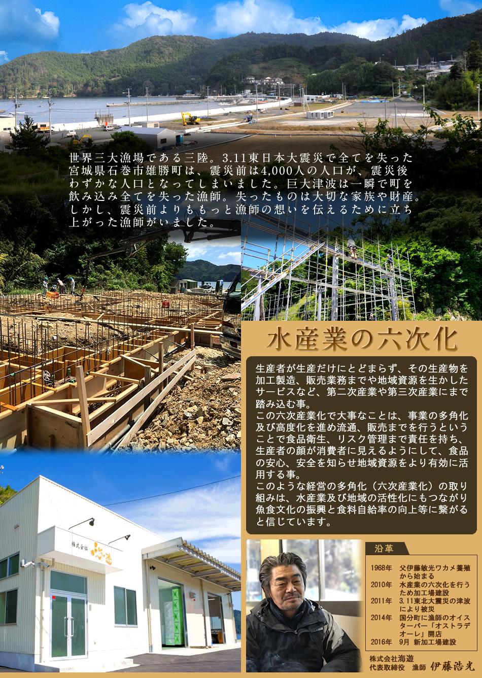 宮城県雄勝町 海遊 水産業の六次化 会社沿革