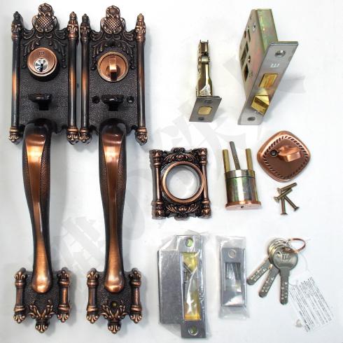 WEST サムラッチハンドル装飾錠 セット
