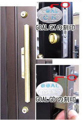GOAL GK GDの刻印