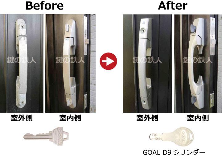 GOAL PXとGOAL TDDの玄関錠(鍵)