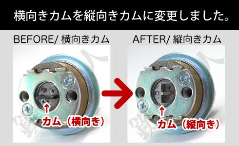 MIWA U9シリンダー用 縦向きカム