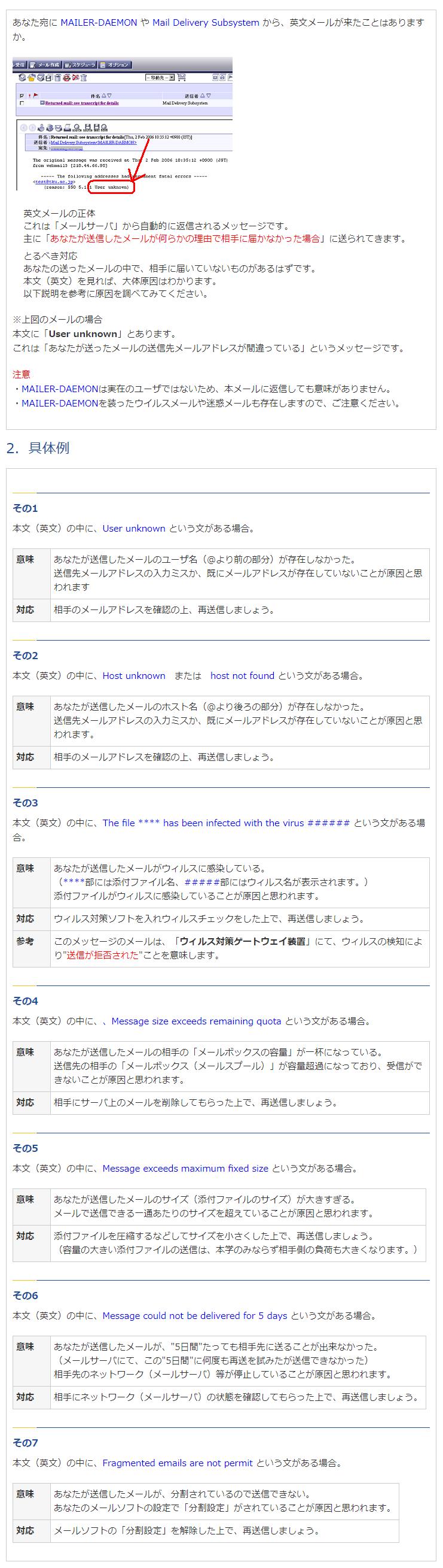 イフ徳島へのお問い合わせ時のメールに関するご注意参考資料