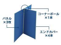 3枚T字連結パネル