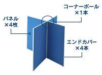 4枚十字連結パネル