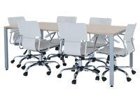 ミーティングテーブル 設置例(TK-1575:ミーティングテーブル TKシャープタイプ)