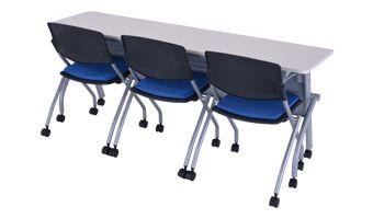 平行スタッキングテーブル( 設置例(HTF-P-1845:平行スタッキングテーブル 幕板付き)