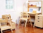 長く使える本物の素材竹の学習机セット