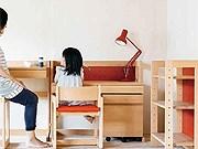 女性視点でデザインされた学習机セット