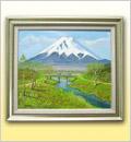 油絵・忍野富士山麓