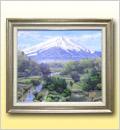 絵画(油絵)富士
