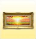 絵画(油彩画)日の出