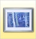 東山魁夷・絵画・白馬の森