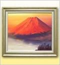 絵画(油絵)赤富士