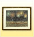 絵画(アートポスター)長岡の花火