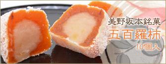 美野坂本銘菓五百羅柿10個入り