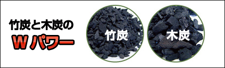 竹炭と木炭のWパワー