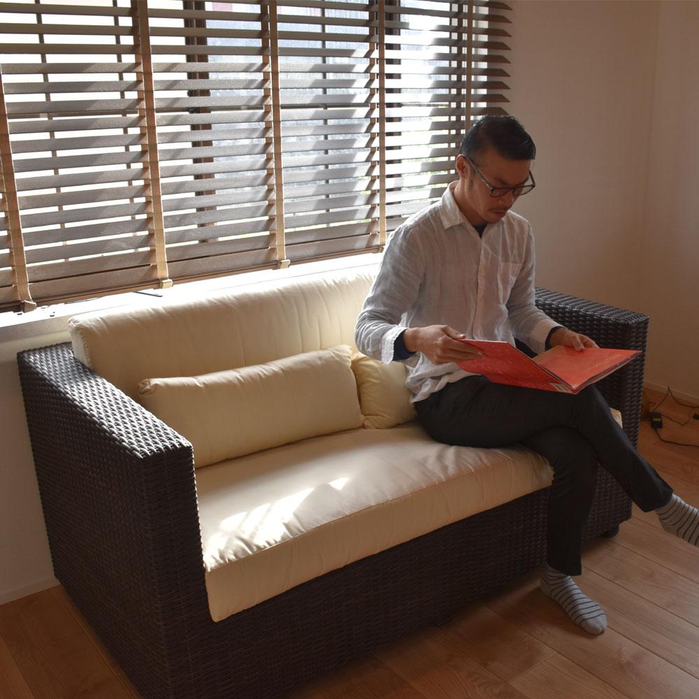 ソファ 2人掛け 二人掛け おしゃれ 送料無料 二人2人 2人用 二人掛けソファ 2人掛けソファ クッション チェア イス 椅子 いす シンセティックラタン モダン リゾート オシャレ 家具 バリ島