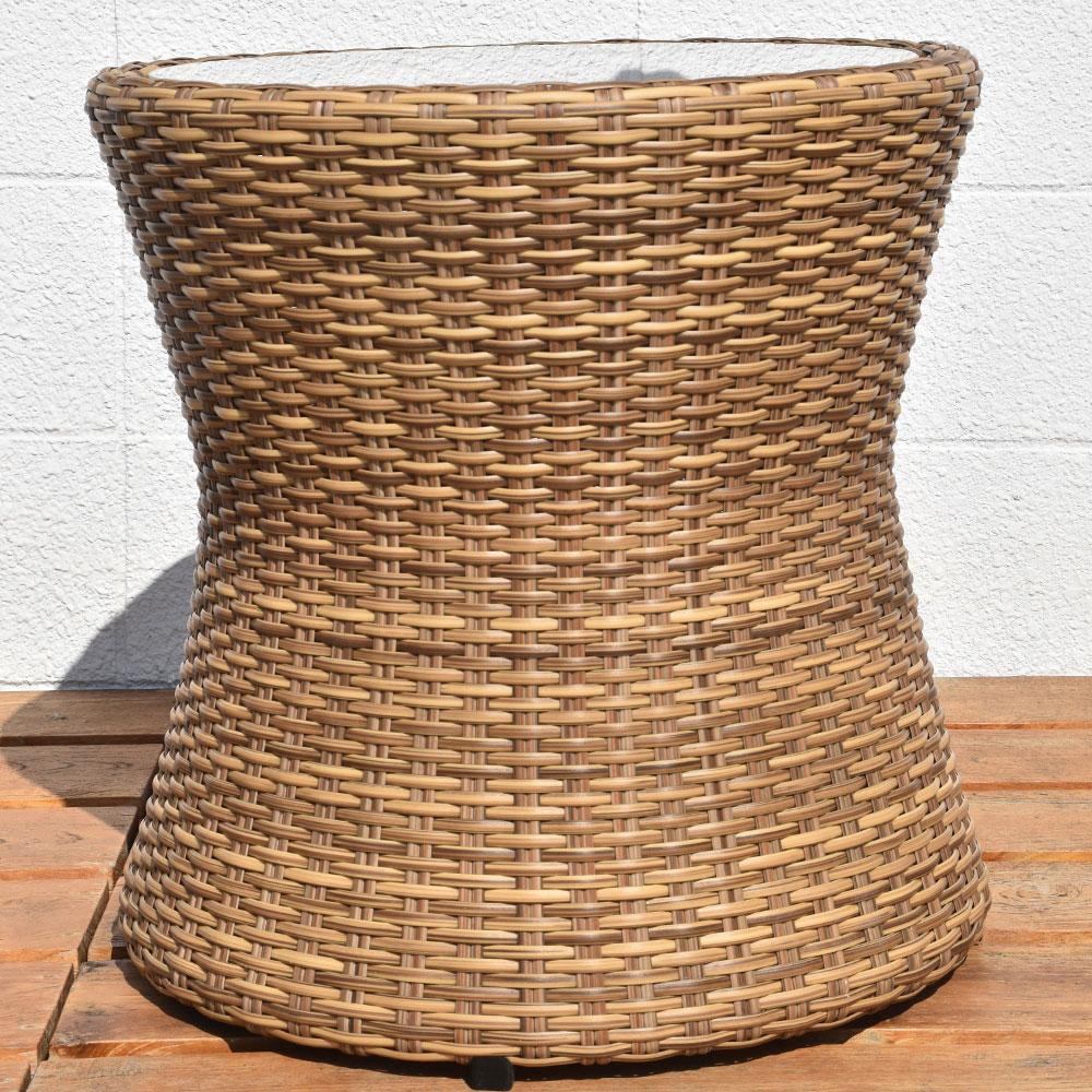 ガーデンチェア テラスセット 3点セット サイドテーブル ガーデンセット セット チェア チェアー いす 椅子 シンセティックラタン ガーデン家具 ガーデンファニチャー アウトドア 屋外 リゾート おしゃれ 家具 バリ島 インテリア アジアン家具