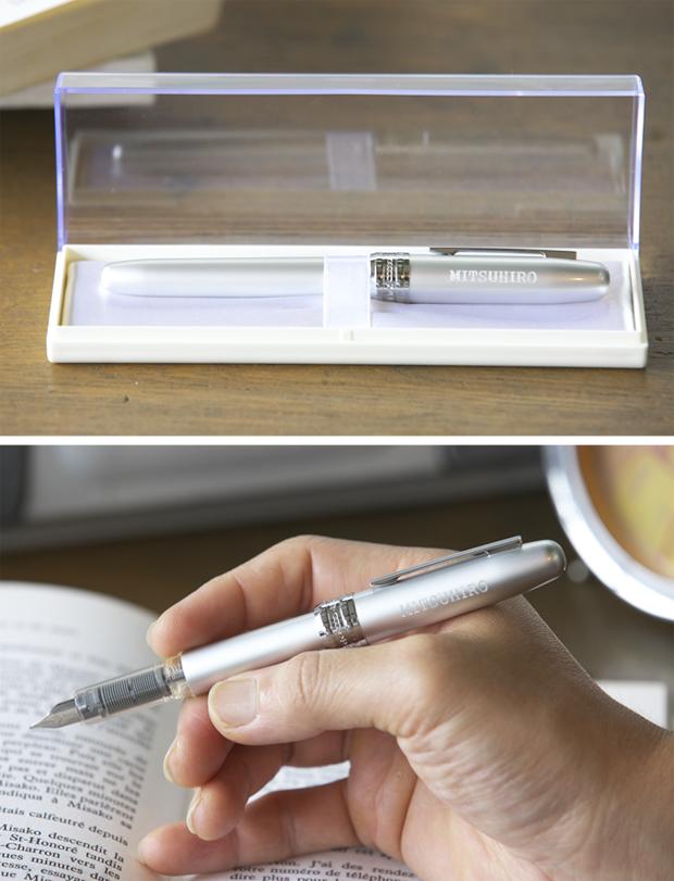 贈り物に名入れ万年筆 プラチナ