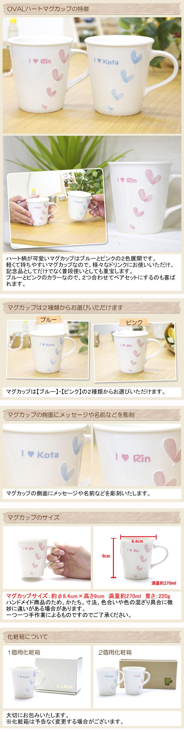 ご友人への結婚祝いやご両親へのプレゼントなどに名入れマグカップ