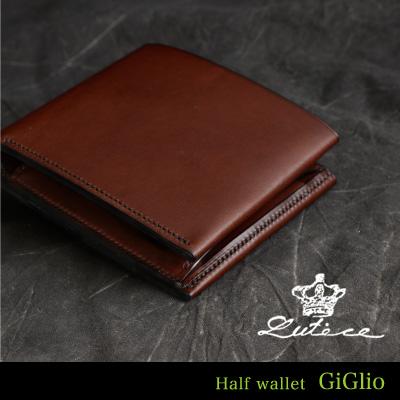 二つ折り財布 イタリア革