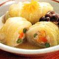 梅豆腐の白菜巻き煮