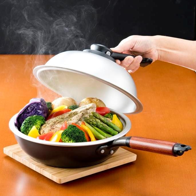 たっぷり深型マーブル炒め鍋30cm