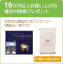5万円以上お買い上げの場合の特典プレゼント