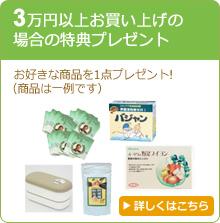 3万円以上お買い上げの場合の特典プレゼント
