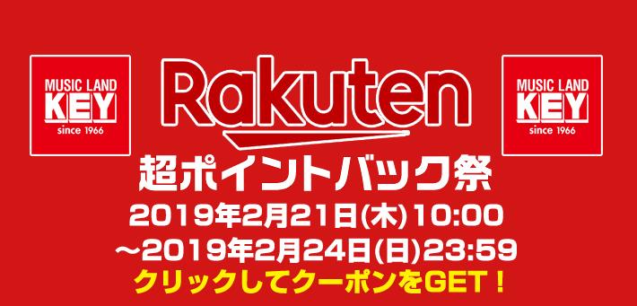 超ポイントバック祭開催中!〜2019年2月24日(日)23:59 クリックしてクーポンGET!!