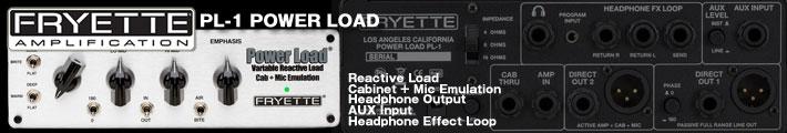 やっぱりギターアンプは真空管!なギタリストへのソリューション。多機能ロードボックスFRYETTE PL-1 POWER LOAD