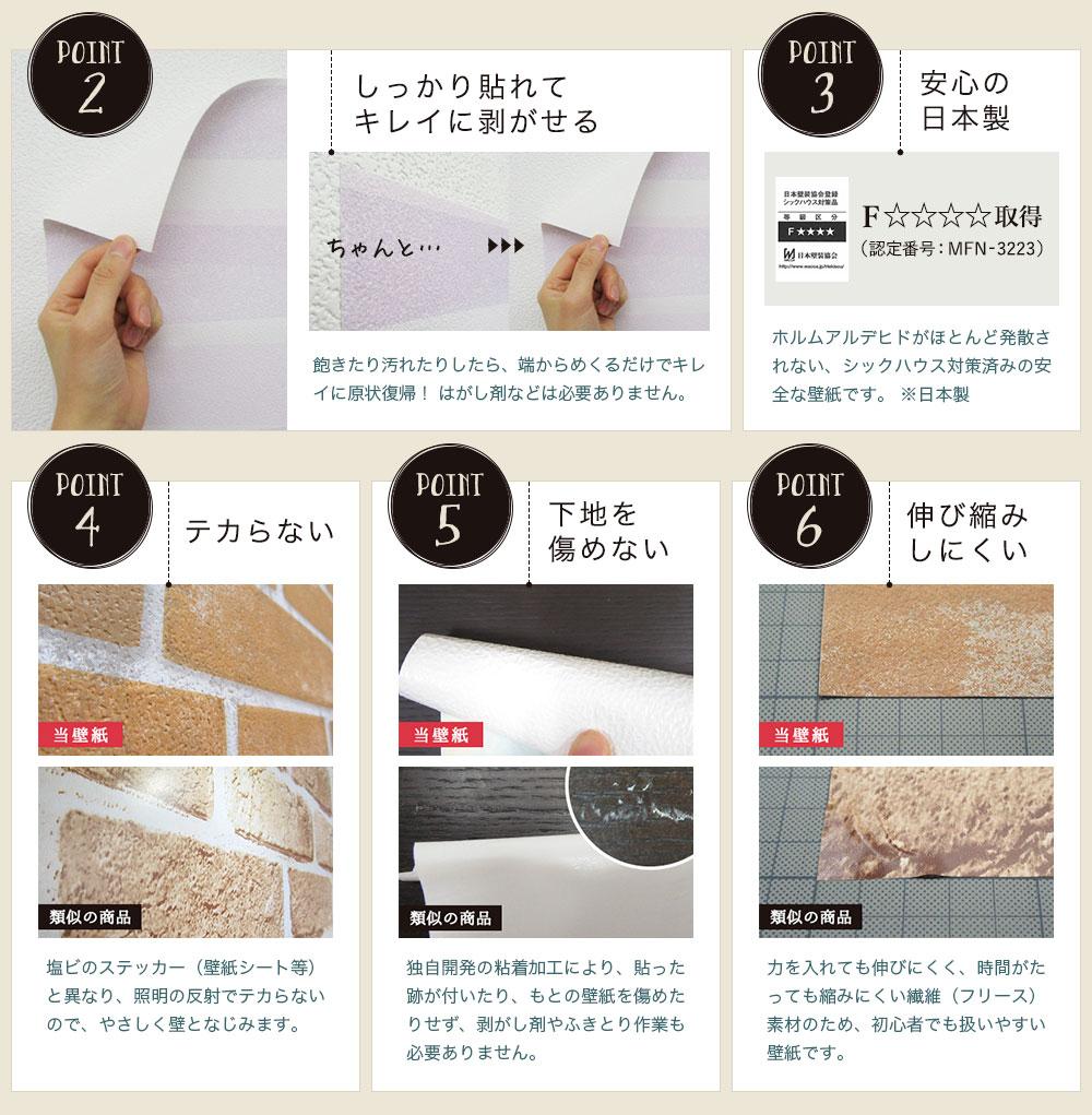 「貼ってはがせてのり残りしない壁紙」を選ぶ6つの理由2