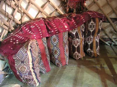 テントの中の収納袋