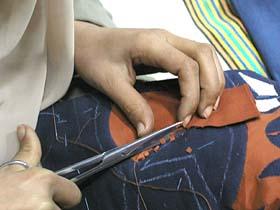 縫い代を細かくカット