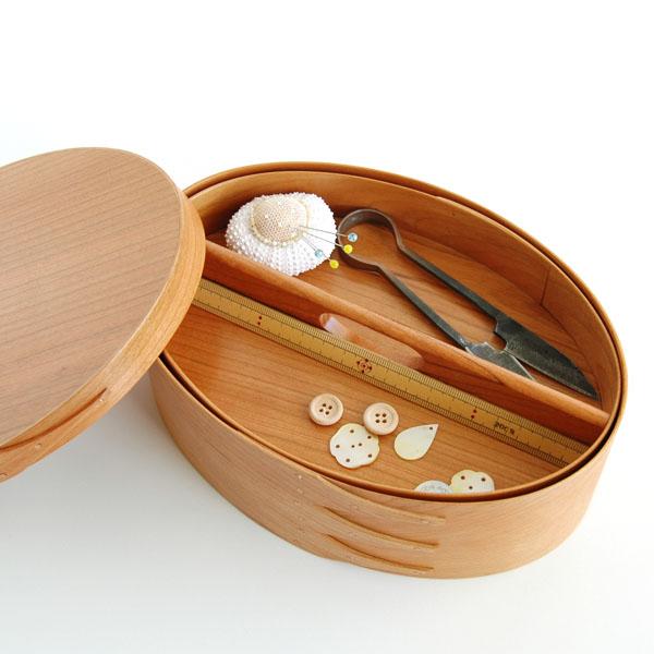 シェーカーボックス ソーイング(チェリー)裁縫箱