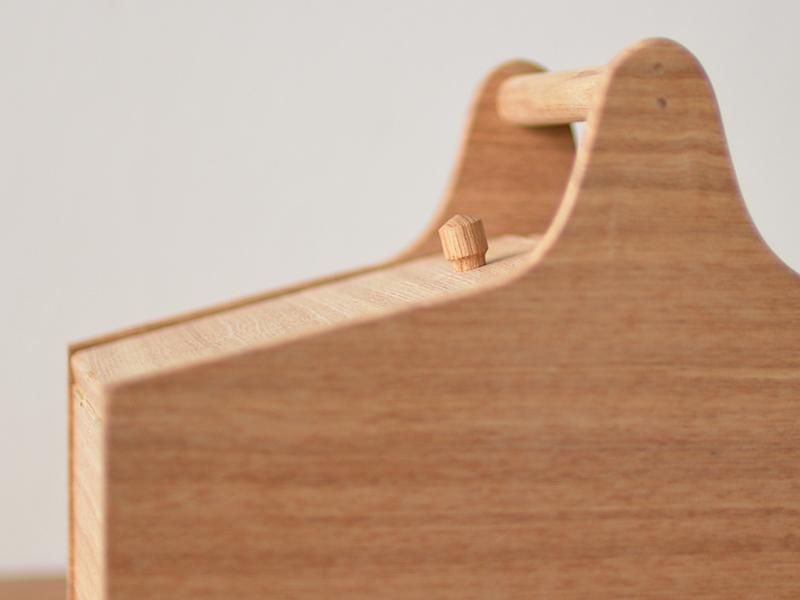 MADEJ ソーイングボックス(裁縫箱) タモ無垢材