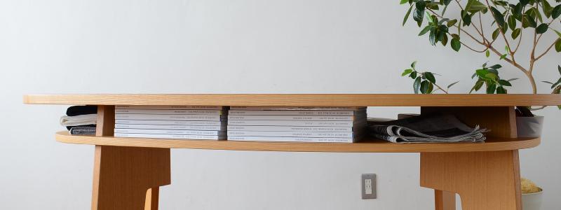 やさしい暮らし-SHUNO(シュノ)収納付き 変形ダイニングテーブル150 どれくらい入るか