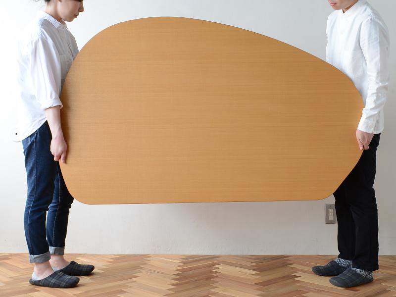 やさしい暮らし-SHUNO(シュノ)収納付き 変形ダイニングテーブル150 重さ