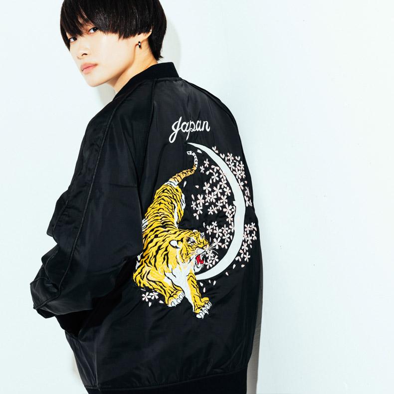 BLAKICHY 虎 桜 月 オリジナル 刺繍 スカジャン原宿 メンズ レディース ユニセックス 男女兼用 2019 新作 ジャケット ブルゾン トラ タイガー