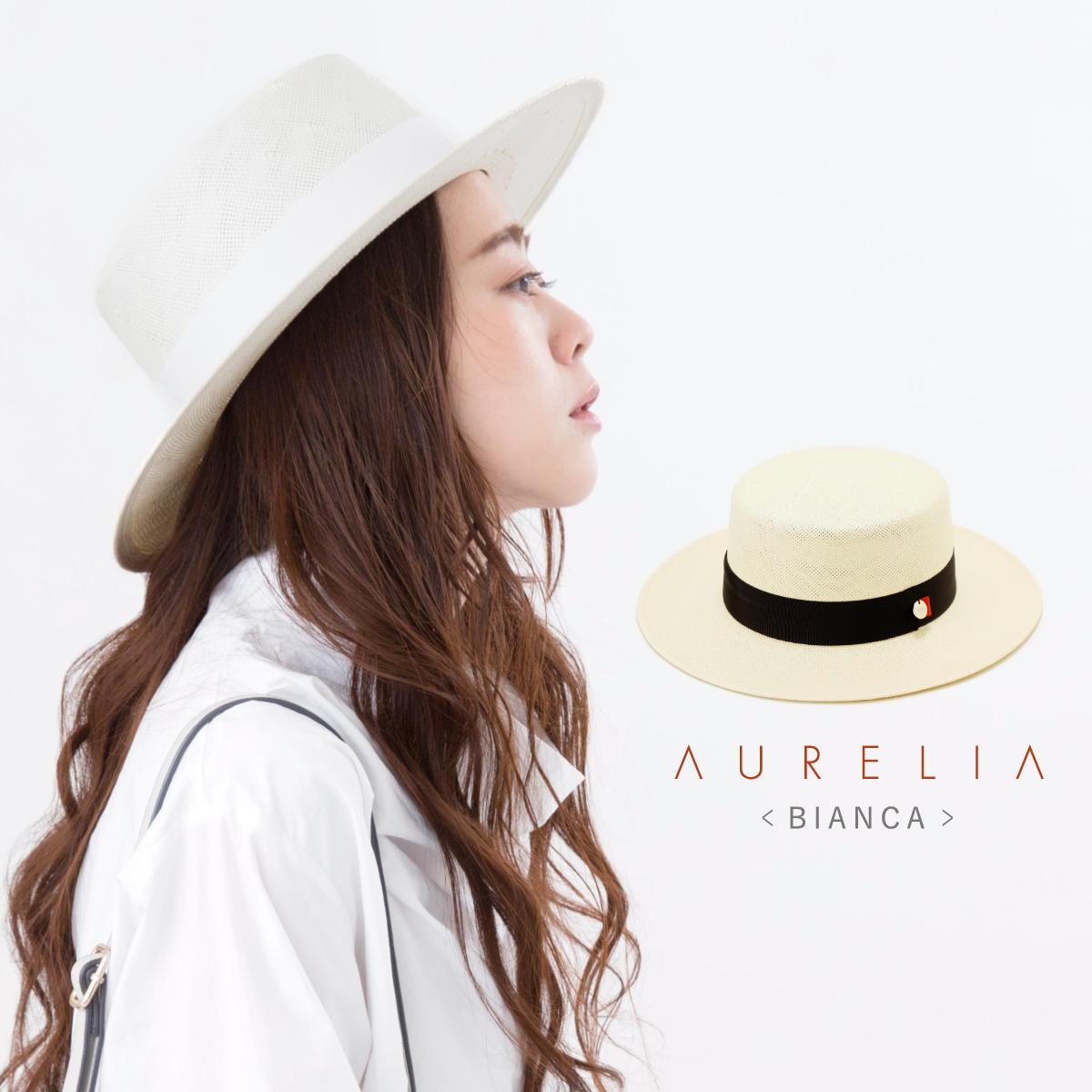 AURELIAペーパーパナマカンカン帽