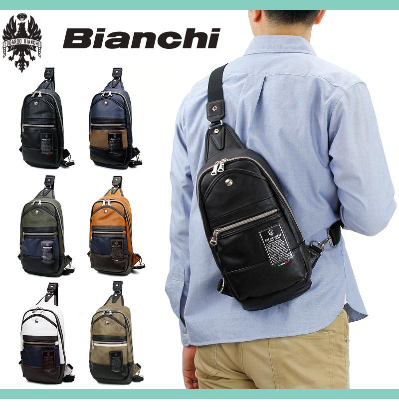 ボディバッグ ビアンキ Bianchi メンズ レディース 男女兼用 正規品 ワンショルダーバッグ 斜めがけバッグ TBPI-02 ボディバック 旅行 ワンショルダー 黒 紺 A5 人気
