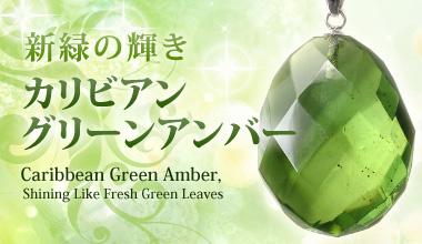 緑豊かな南米コロンビアから清涼で透き通る美しさ カリビアングリーンアンバー 琥珀