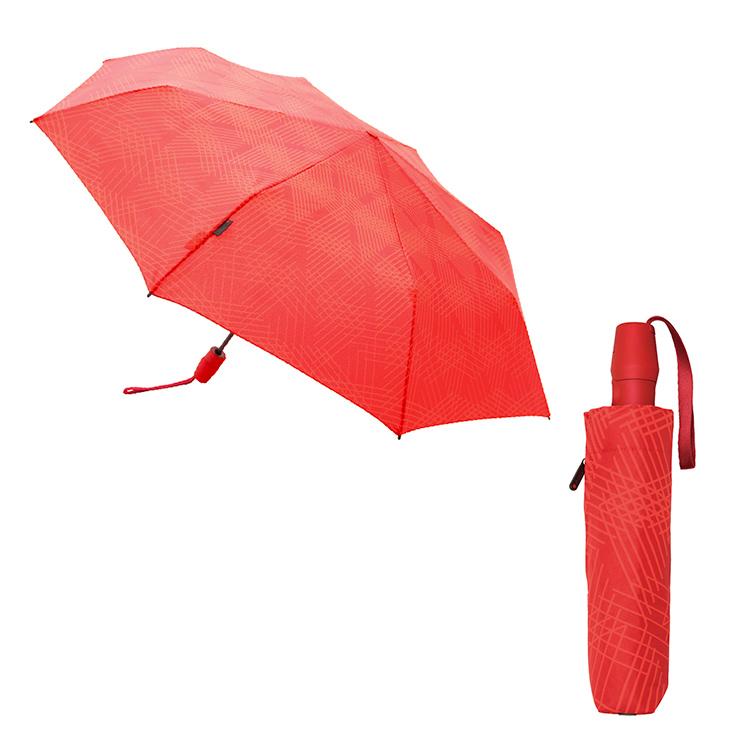 くにるぷす ぬの  くにるぷす ぬの あめおち あか モダン 折り畳み傘 すどうれいこ